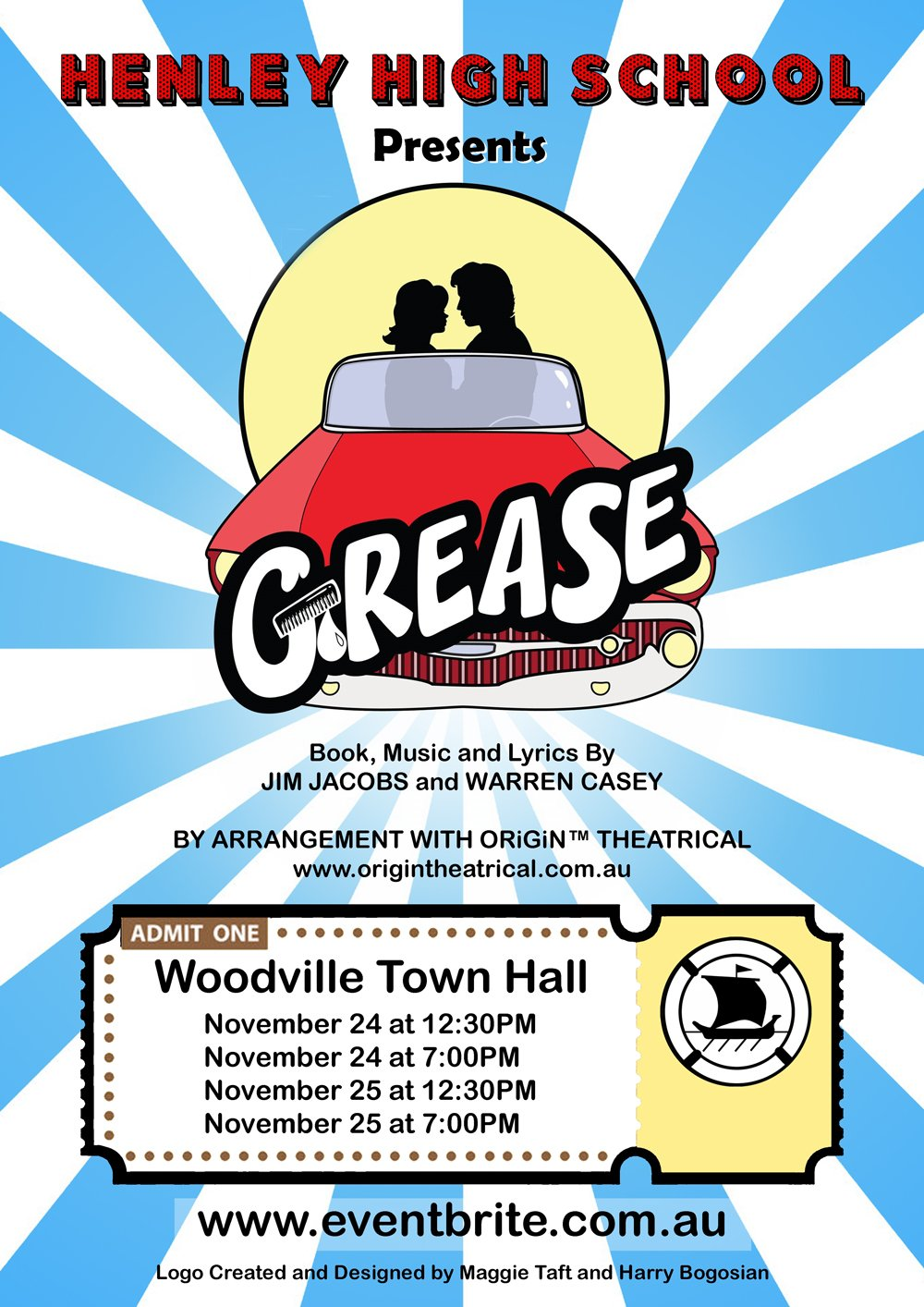 henley-high-school-grease-poster